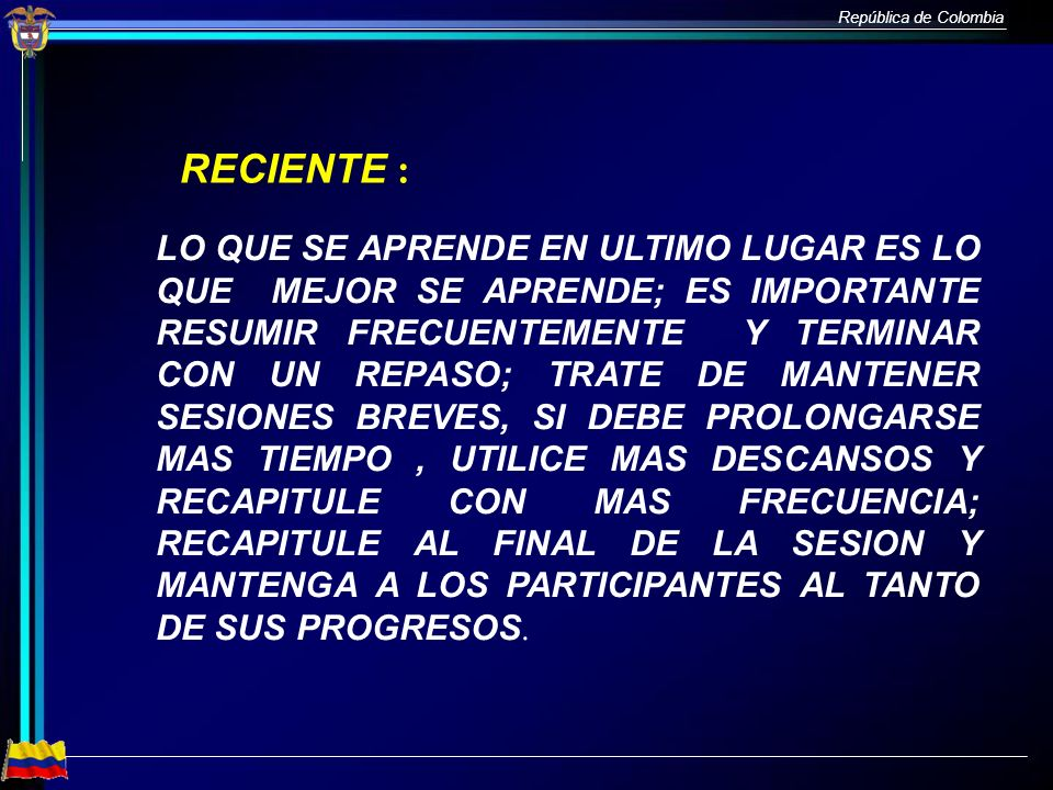 RECIENTE :