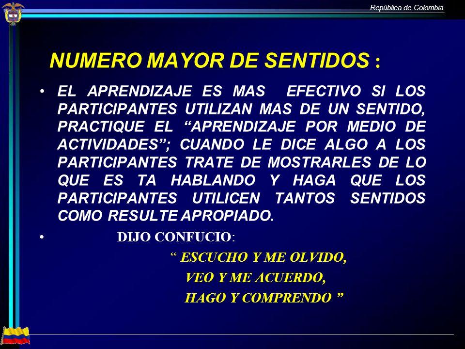 NUMERO MAYOR DE SENTIDOS :