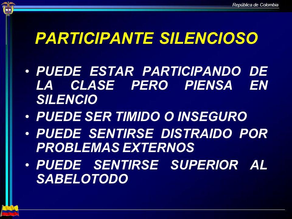 PARTICIPANTE SILENCIOSO