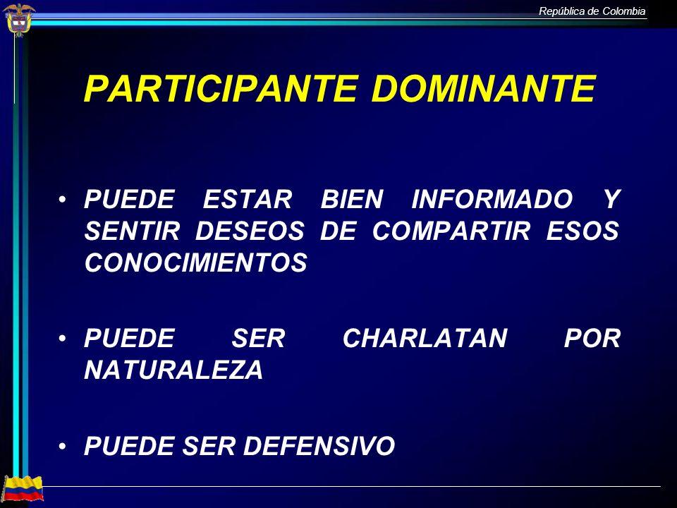 PARTICIPANTE DOMINANTE