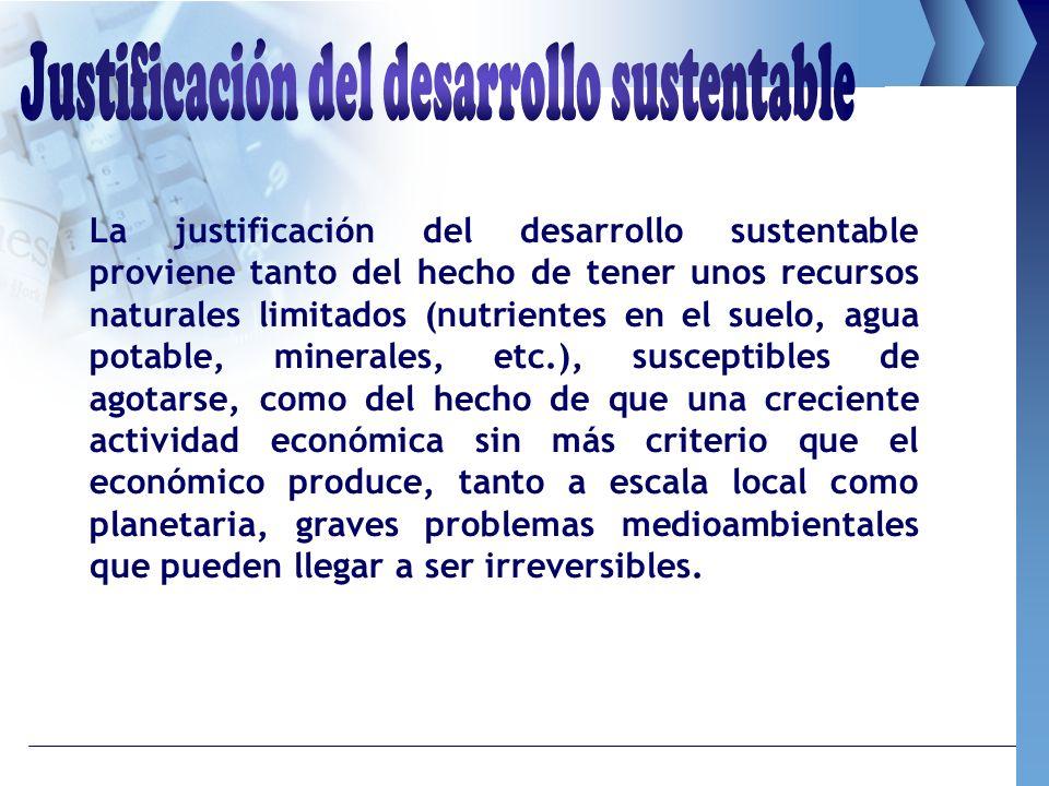 Justificación del desarrollo sustentable
