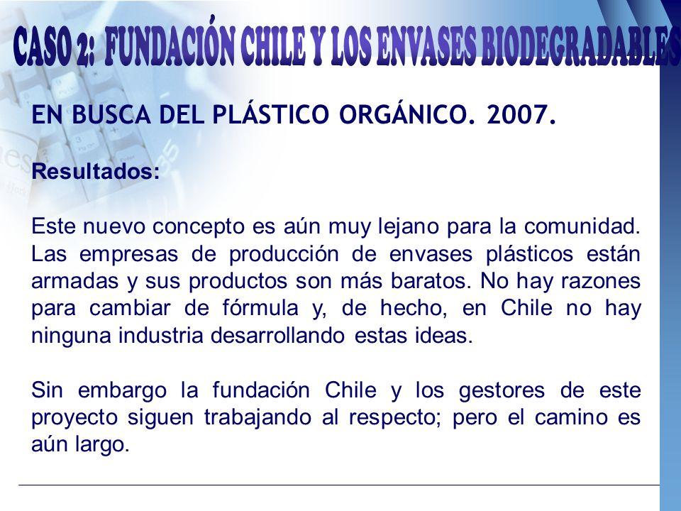 CASO 2: FUNDACIÓN CHILE Y LOS ENVASES BIODEGRADABLES