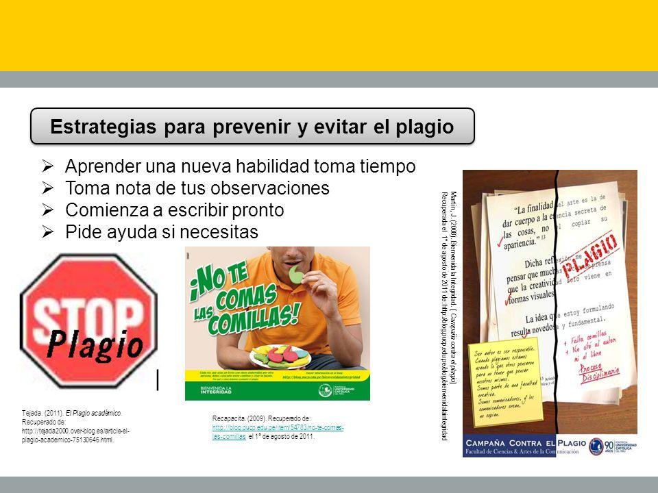 Estrategias para prevenir y evitar el plagio