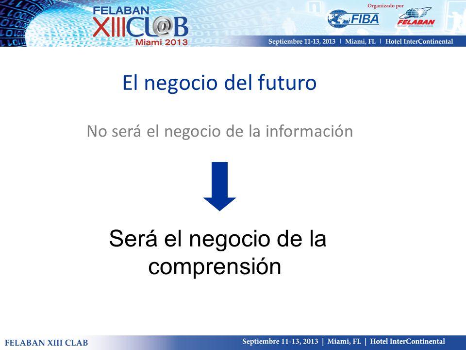 El negocio del futuro Será el negocio de la comprensión