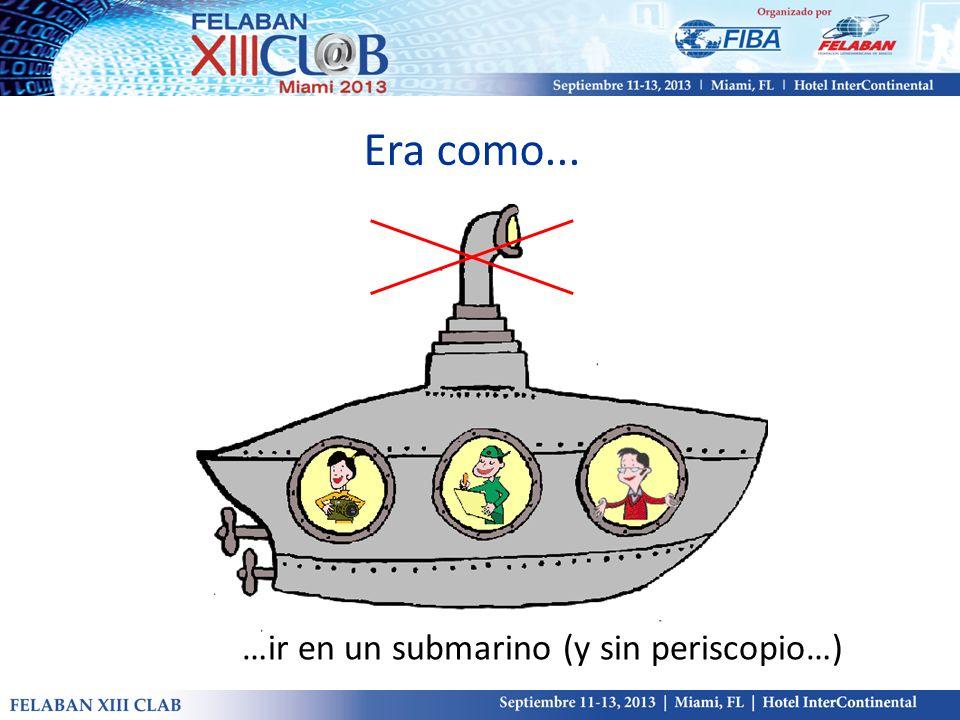 …ir en un submarino (y sin periscopio…)