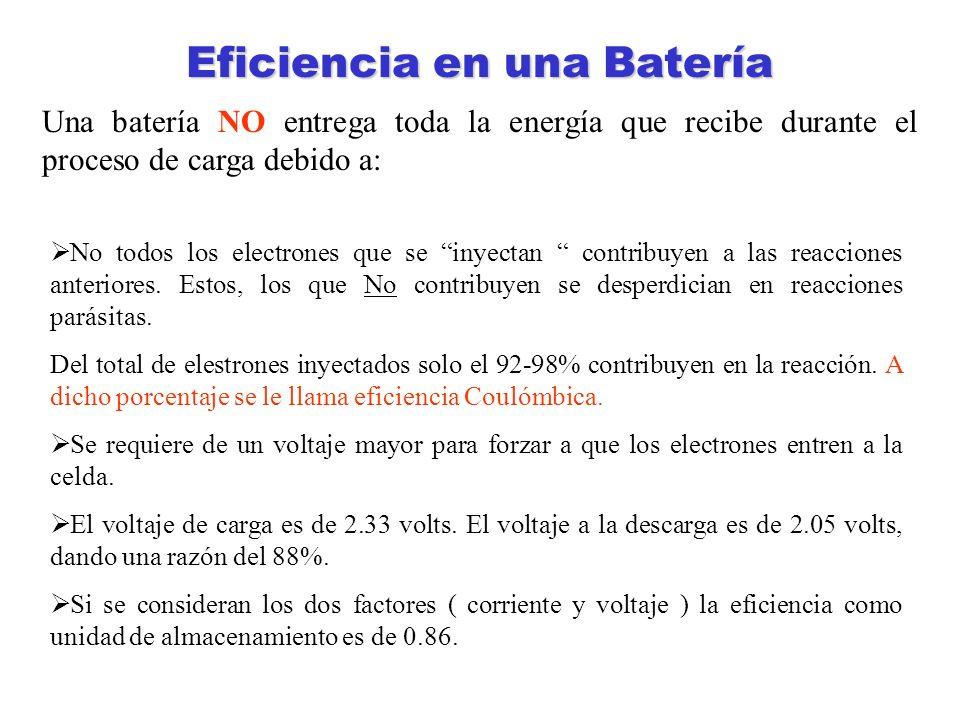 Eficiencia en una Batería