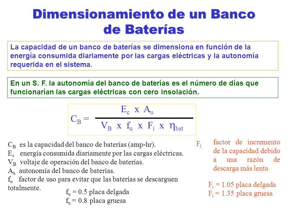 Dimensionamiento de un Banco de Baterías
