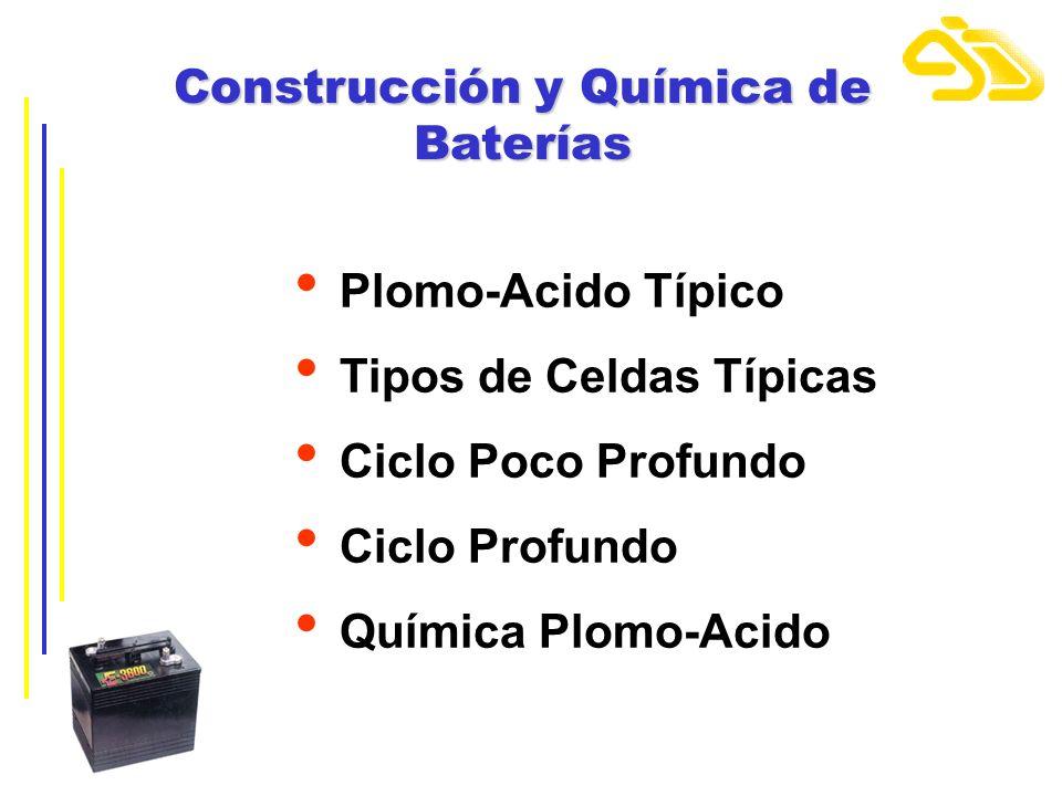 Construcción y Química de Baterías