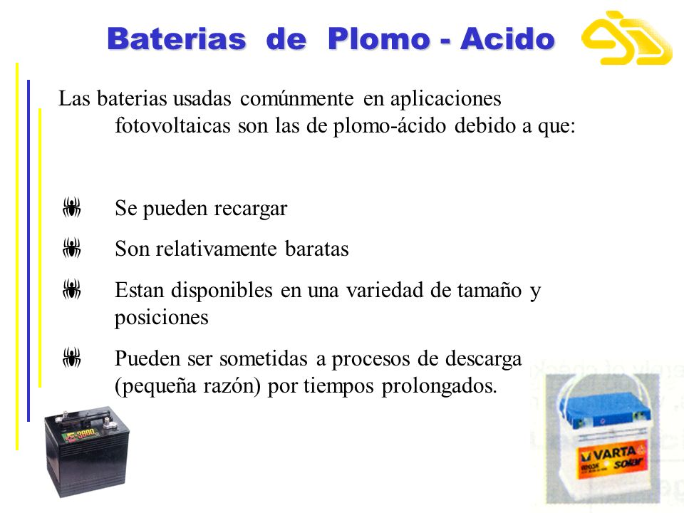 Baterias de Plomo - Acido