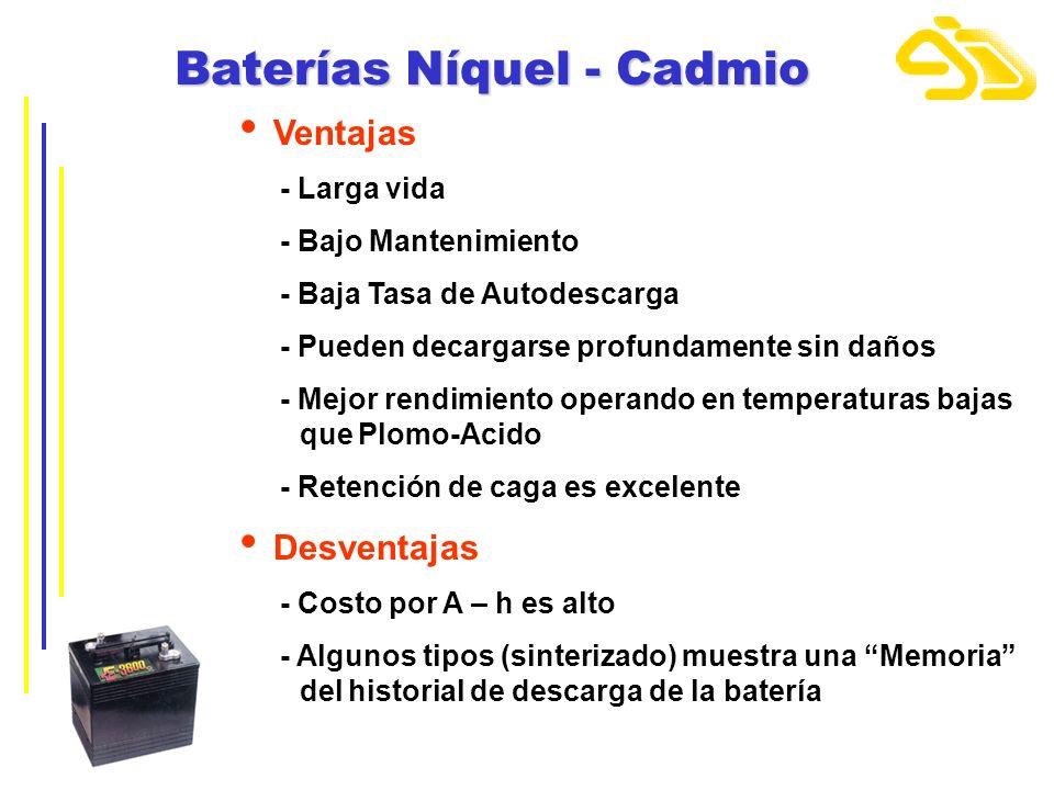 Baterías Níquel - Cadmio