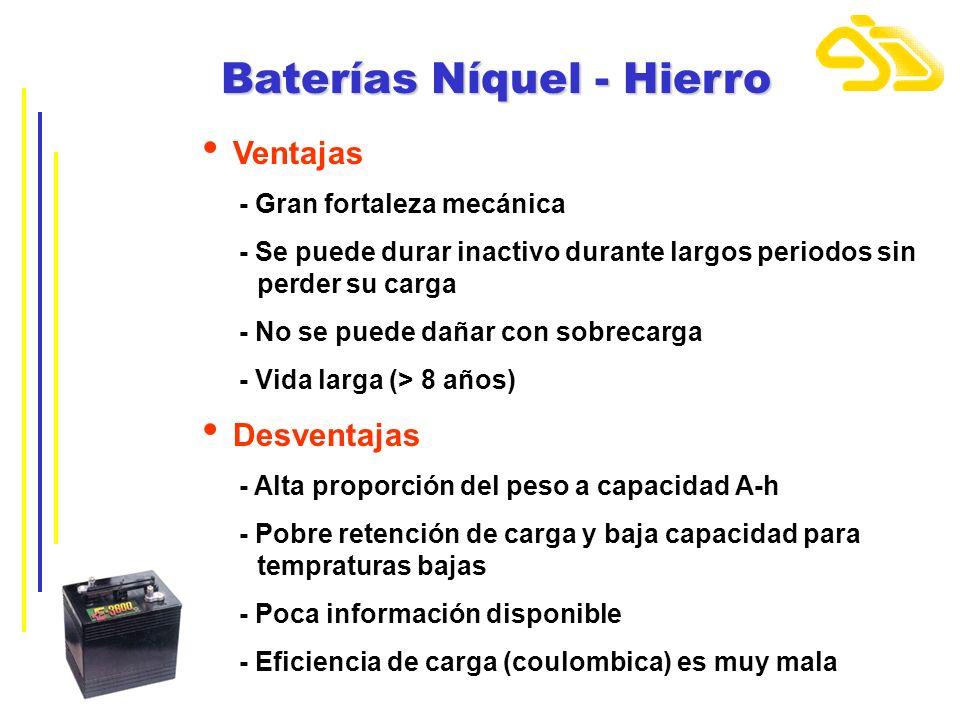 Baterías Níquel - Hierro