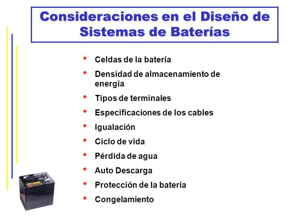 Consideraciones en el Diseño de Sistemas de Baterías