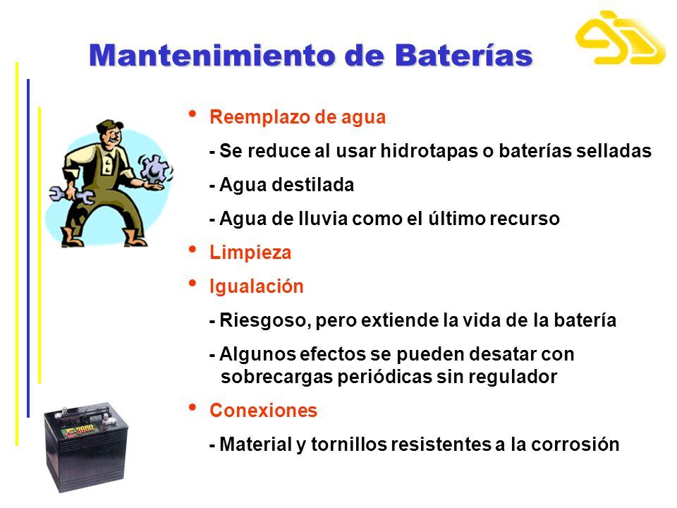 Mantenimiento de Baterías