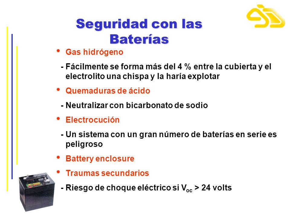 Seguridad con las Baterías