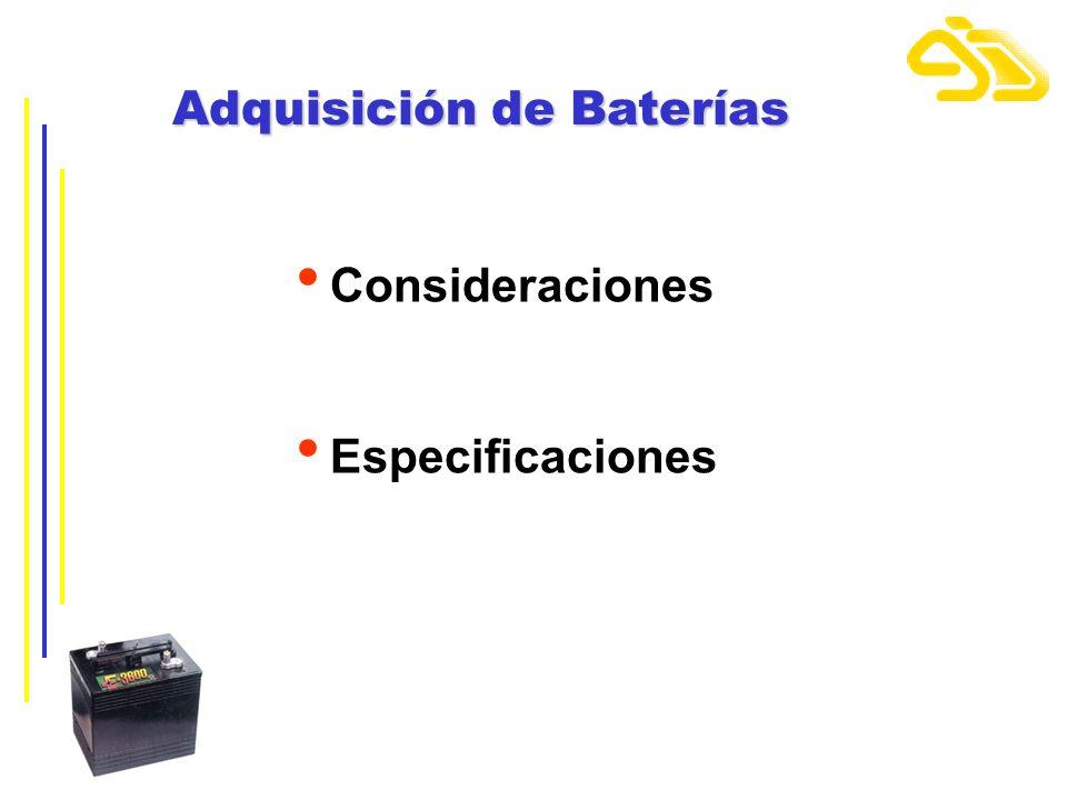 Adquisición de Baterías