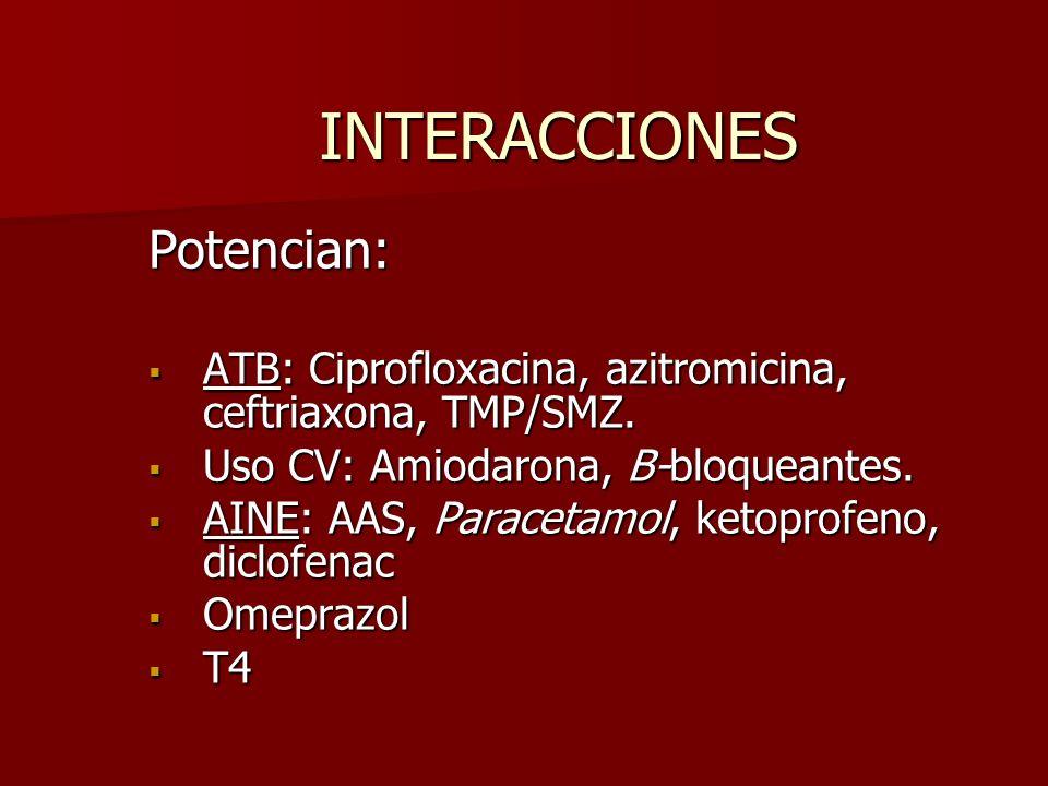 INTERACCIONES Potencian: