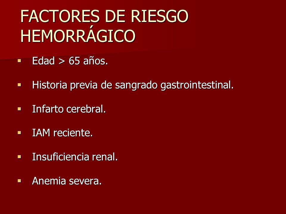 FACTORES DE RIESGO HEMORRÁGICO