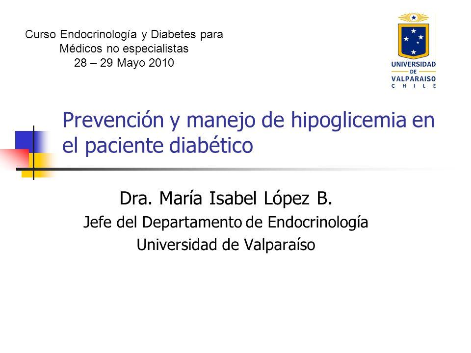 Prevención y manejo de hipoglicemia en el paciente diabético