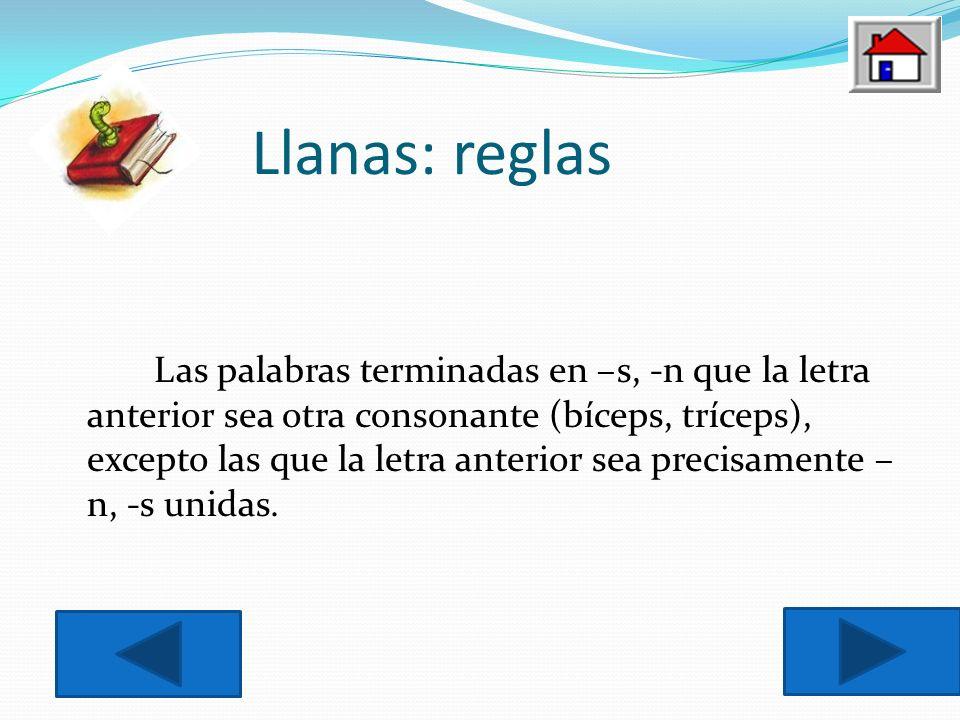 Llanas: reglas