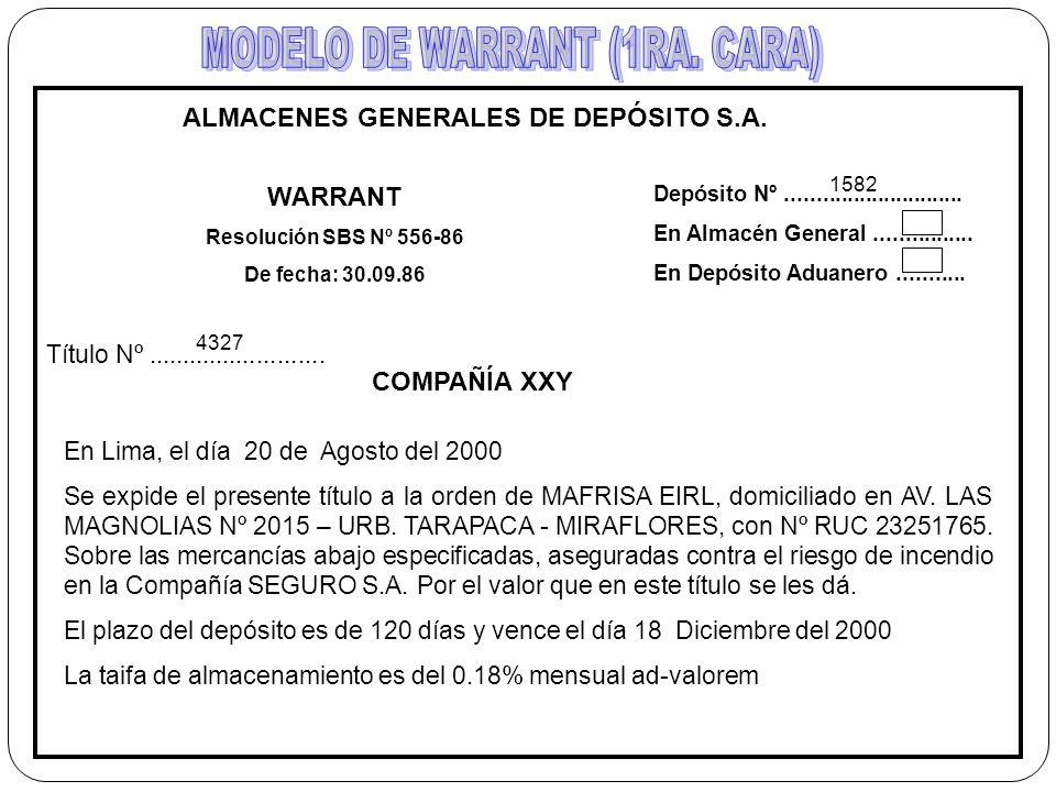 ALMACENES GENERALES DE DEPÓSITO S.A.
