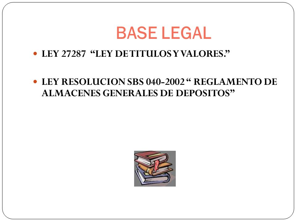 BASE LEGAL LEY LEY DE TITULOS Y VALORES.