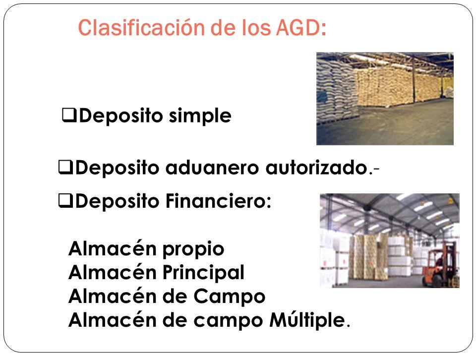 Clasificación de los AGD:
