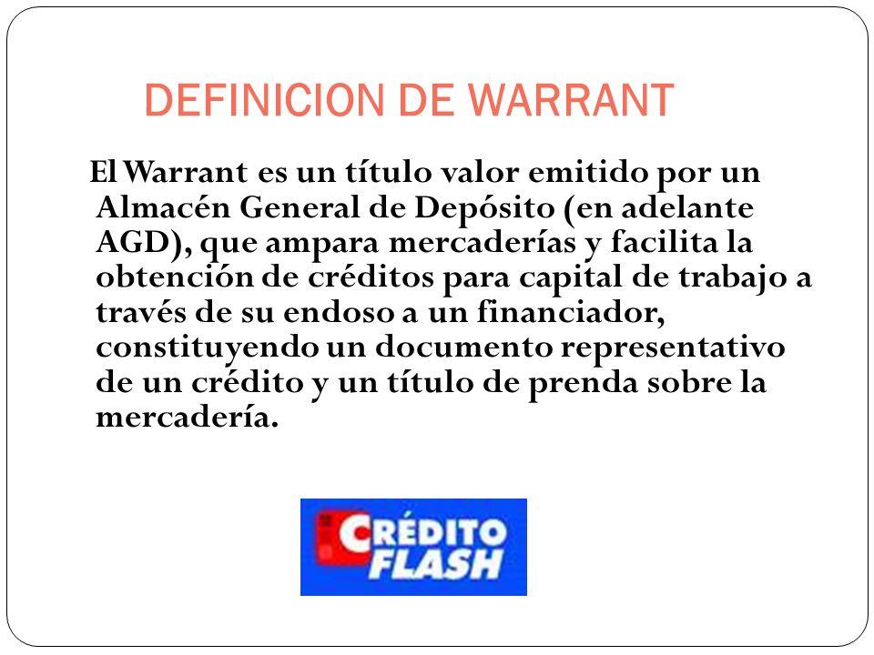 DEFINICION DE WARRANT