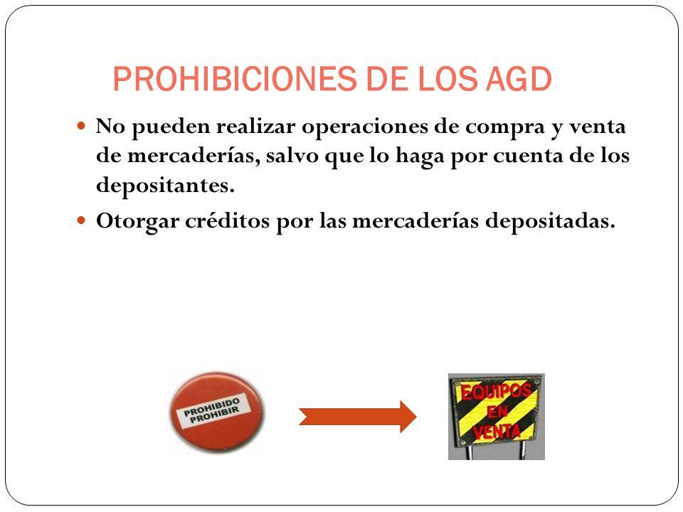 PROHIBICIONES DE LOS AGD