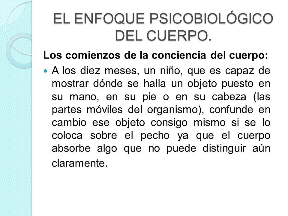 EL ENFOQUE PSICOBIOLÓGICO DEL CUERPO.
