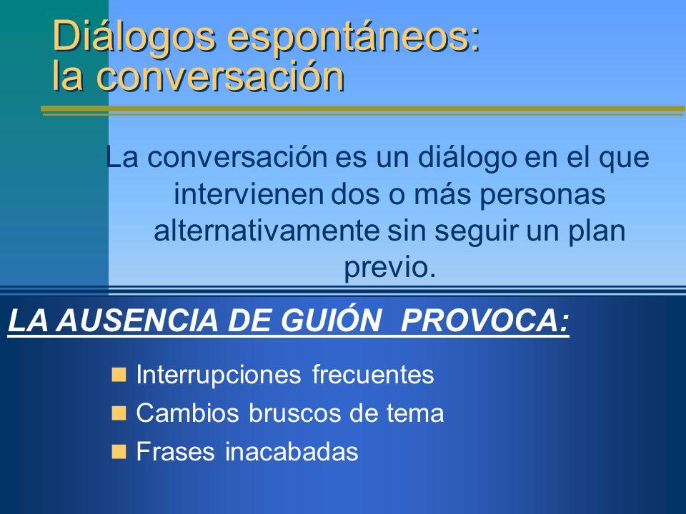 Diálogos espontáneos: la conversación