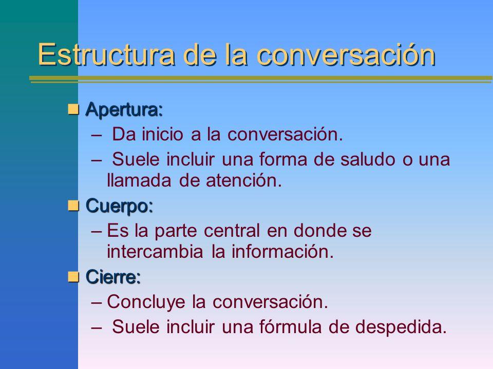 Estructura de la conversación