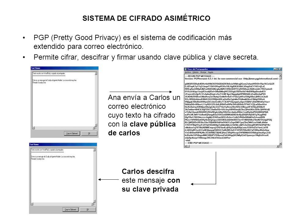 SISTEMA DE CIFRADO ASIMÉTRICO