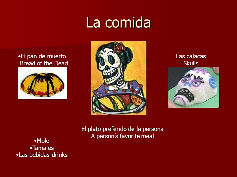 La comida El pan de muerto Bread of the Dead Las calacas Skulls