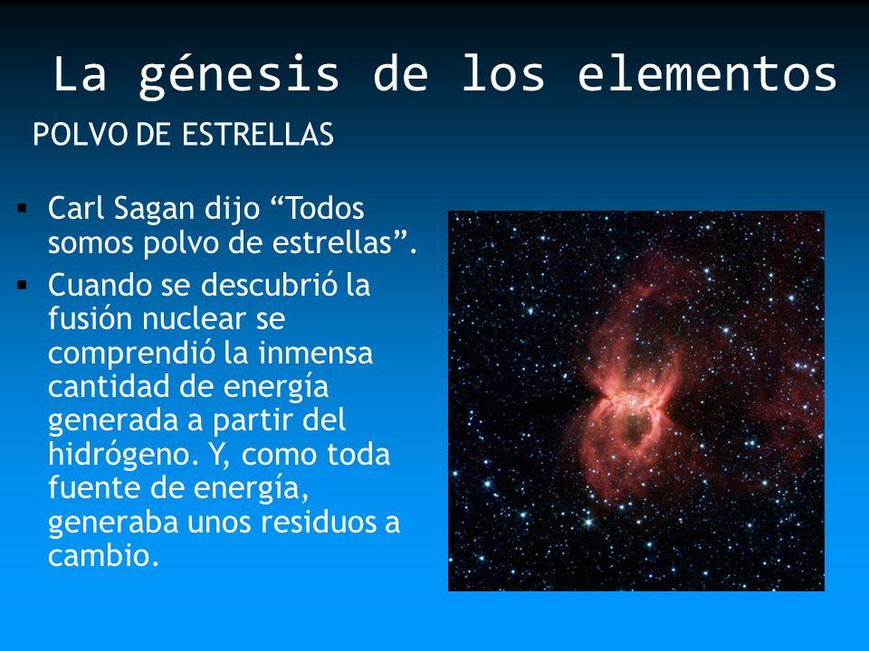 La génesis de los elementos