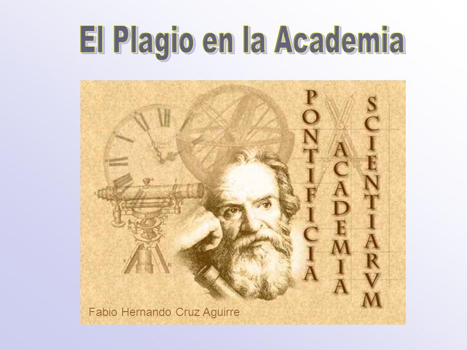 El Plagio en la Academia