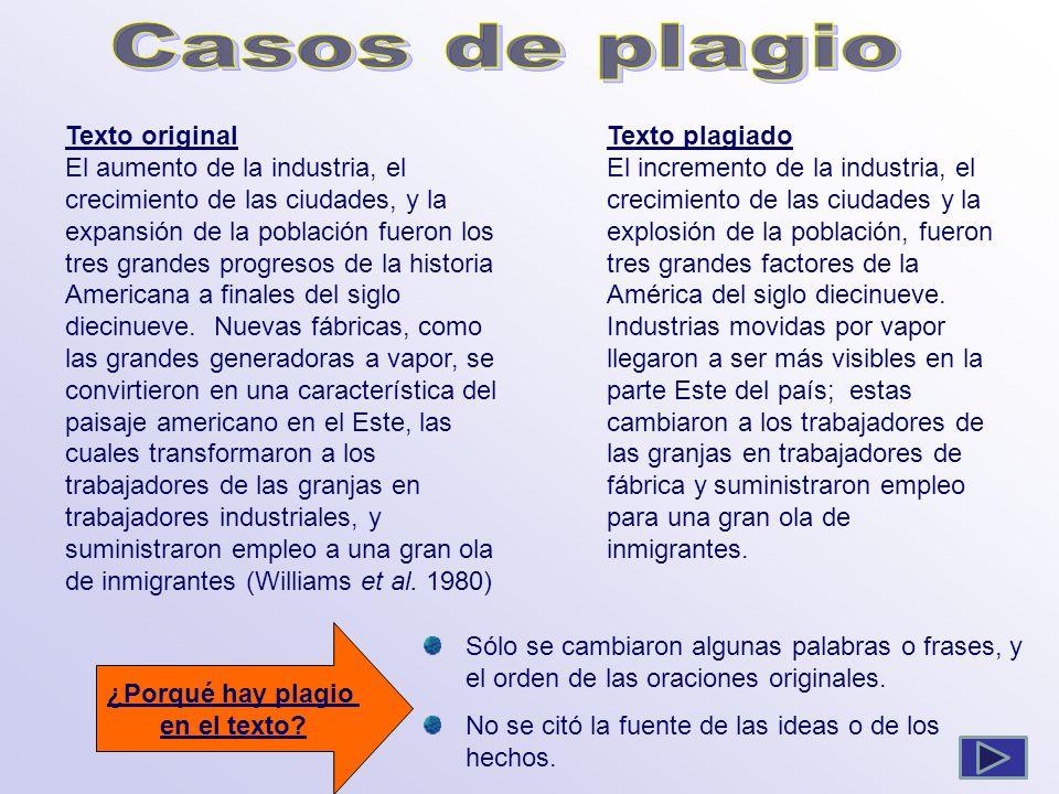 Casos de plagio Texto original