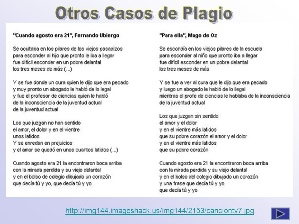 Otros Casos de Plagio http://img144.imageshack.us/img144/2153/canciontv7.jpg