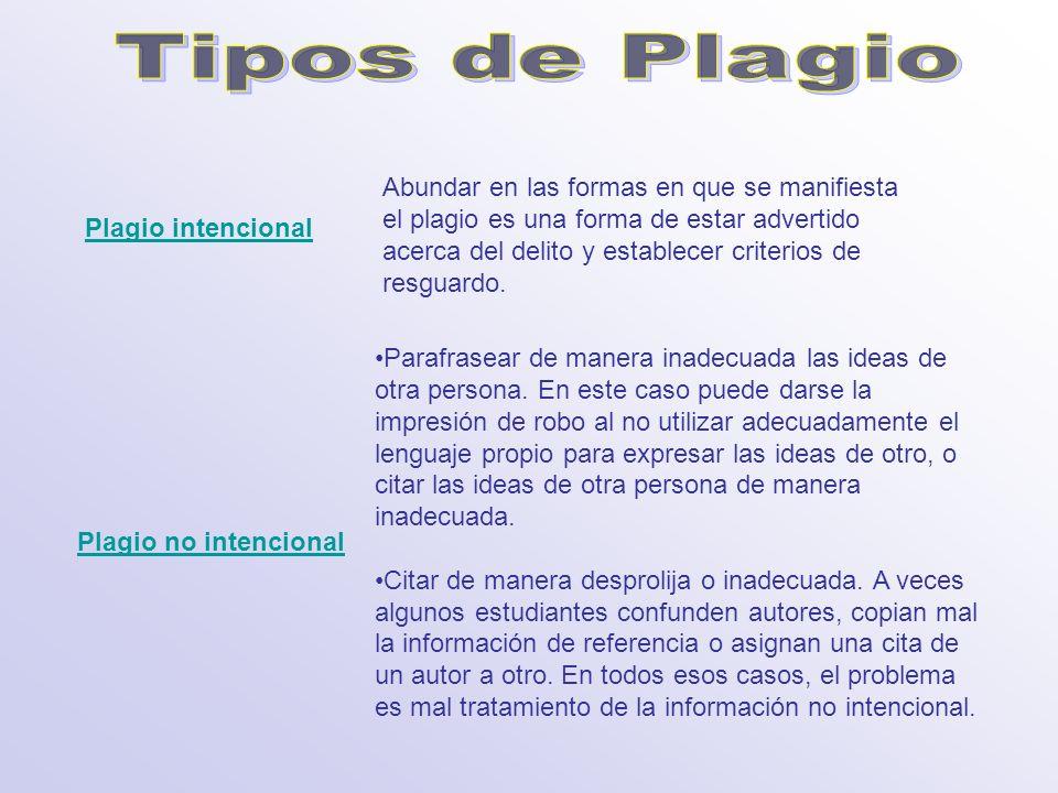 Tipos de Plagio