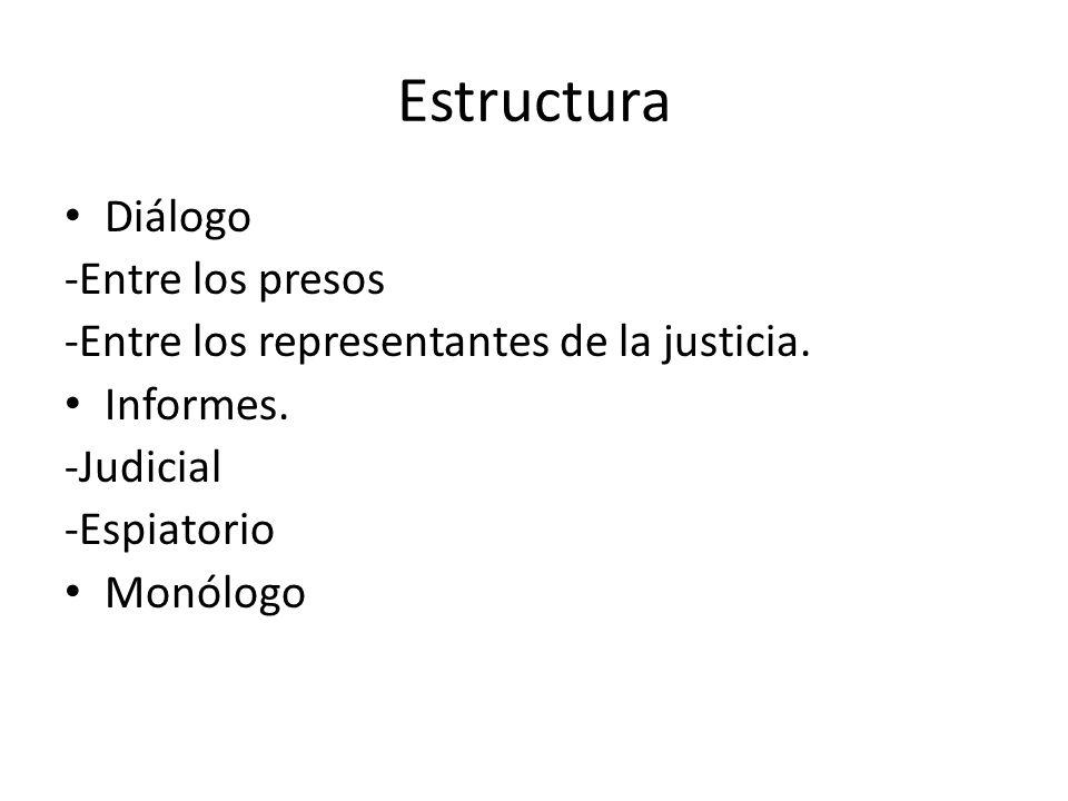 Estructura Diálogo -Entre los presos