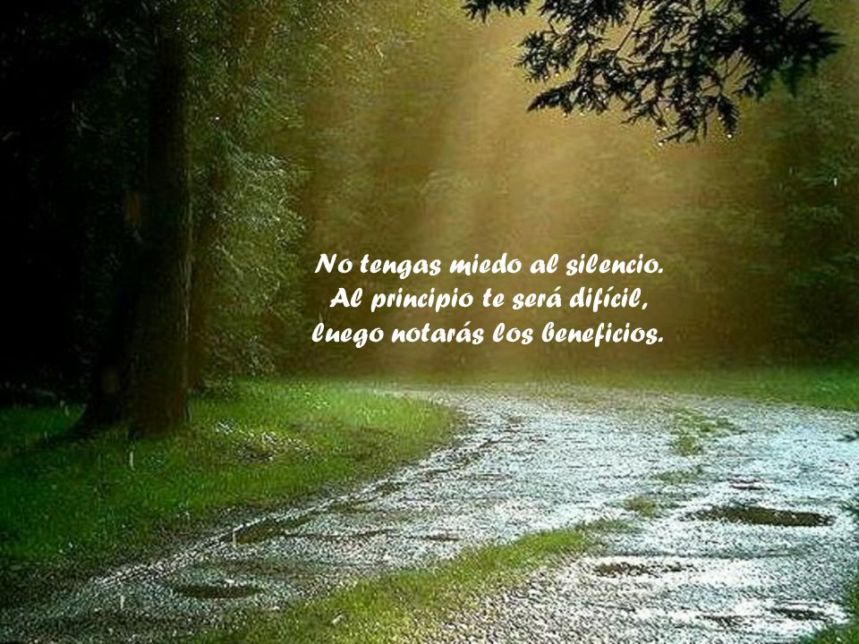 No tengas miedo al silencio