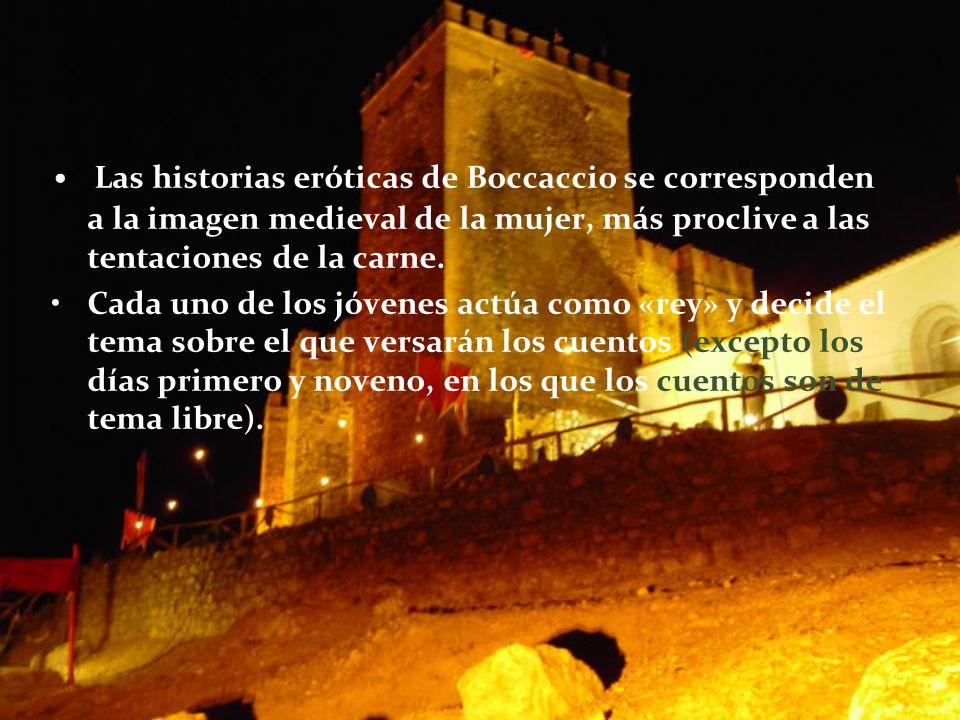 Las historias eróticas de Boccaccio se corresponden a la imagen medieval de la mujer, más proclive a las tentaciones de la carne.