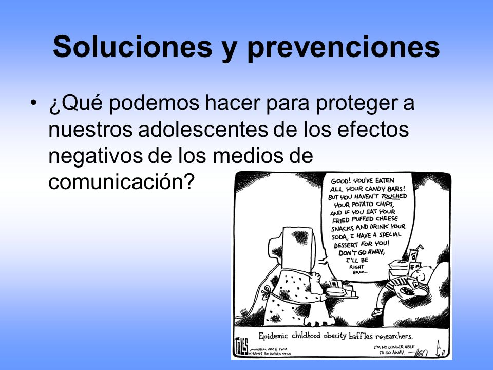 Soluciones y prevenciones