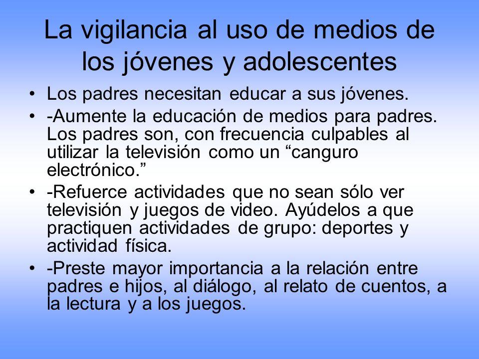 La vigilancia al uso de medios de los jóvenes y adolescentes