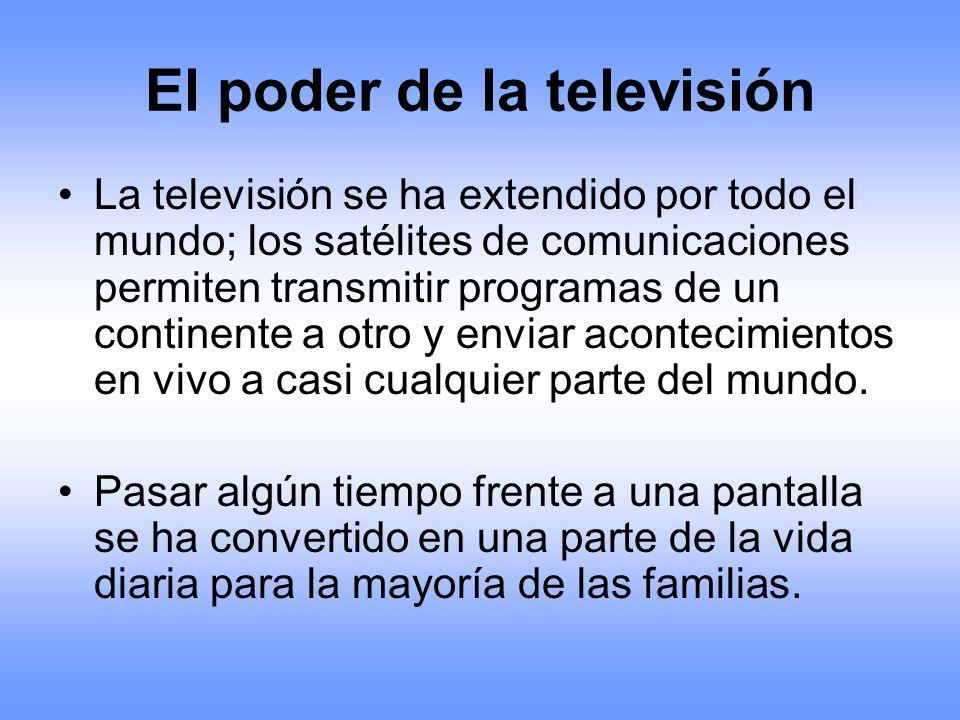 El poder de la televisión