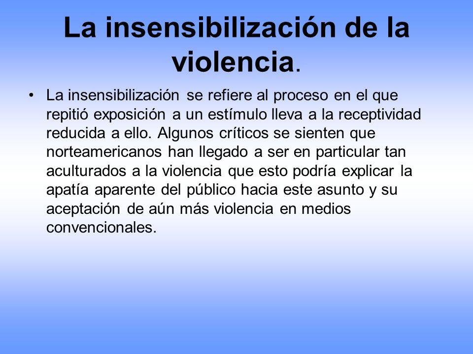 La insensibilización de la violencia.