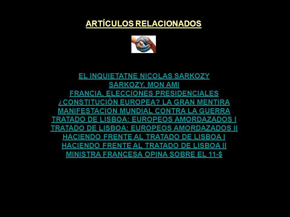 ARTÍCULOS RELACIONADOS MINISTRA FRANCESA OPINA SOBRE EL 11-$