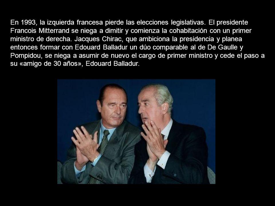 En 1993, la izquierda francesa pierde las elecciones legislativas