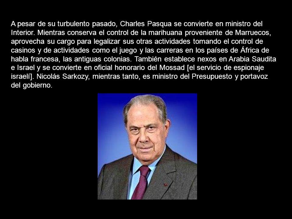 A pesar de su turbulento pasado, Charles Pasqua se convierte en ministro del Interior.
