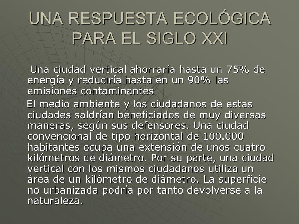 UNA RESPUESTA ECOLÓGICA PARA EL SIGLO XXI