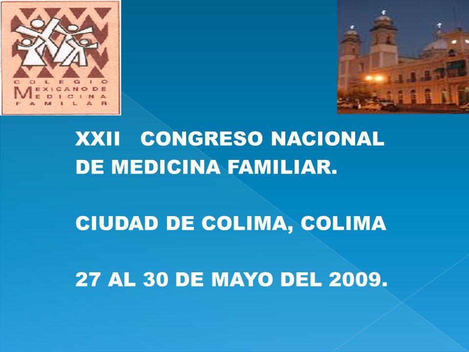 XXII CONGRESO NACIONAL DE MEDICINA FAMILIAR